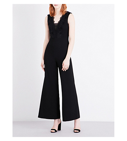 MAJE Polly crepe jumpsuit (Black