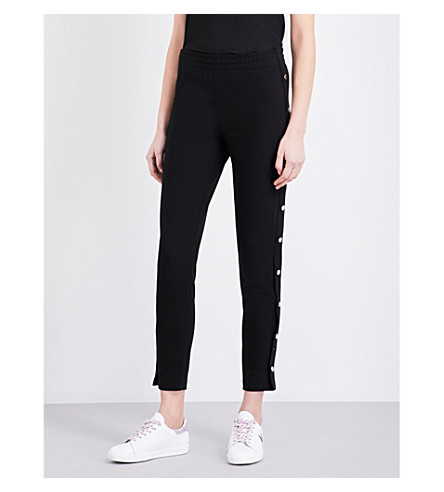 MAJE Prune cropped crepe pants (Black