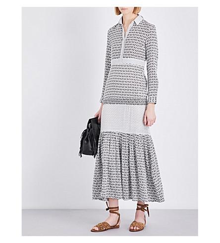 MAJE Ragely cotton shirt dress (Imprime