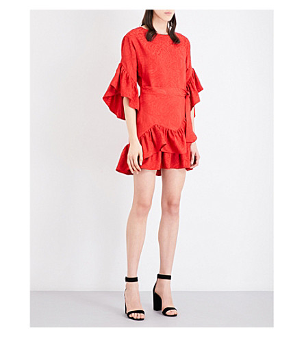 MAJE Rahima jacquard dress (Rouge
