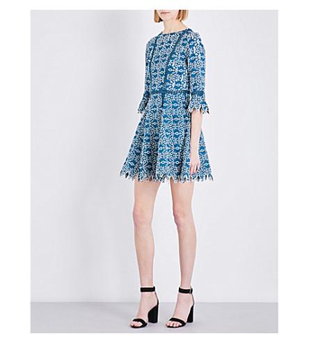 MAJE Rajo lace dress (Bleu