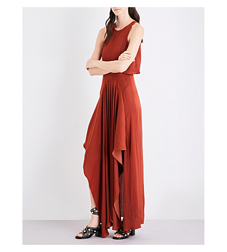 MAJE Ranita satin maxi dress (Tomette