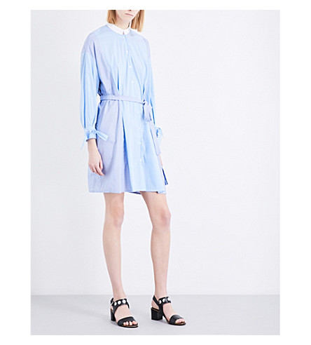 MAJE Rarty cotton-blend dress (Bleu