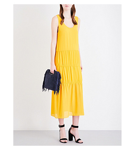 MAJE Renan crepe dress (Jaune