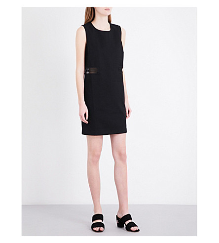 MAJE Restal stretch-cotton dress (Black