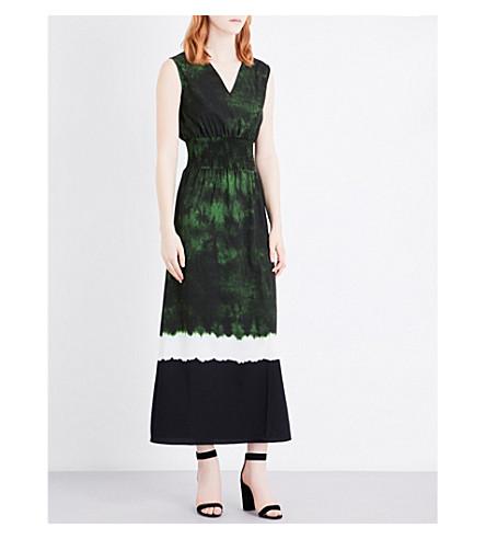 MAJE Ribeira tye-dye print crepe dress (Imprime