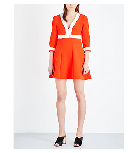 MAJE Ricoeur stretch-crepe dress (Orange