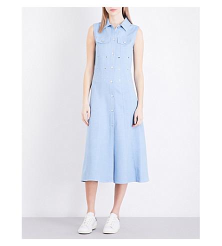 MAJE Riha aiglet piqué dress (Bleu+ciel