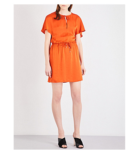 MAJE Rimette woven dress (Orange