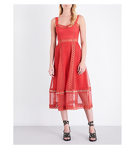 MAJE Rita lace dress (Rouge