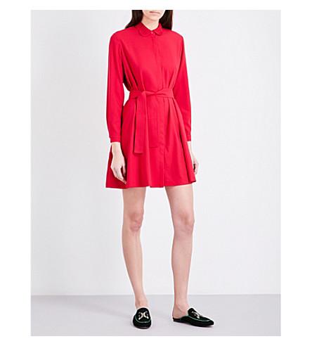 MAJE Rivoise crepe shirt dress (Fushia