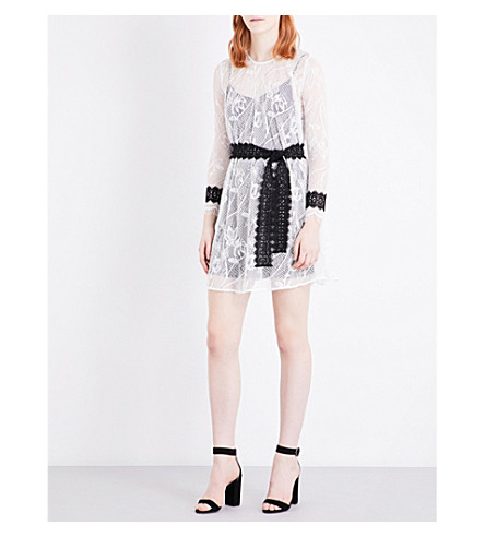 MAJE Rogette lace dress (Blanc
