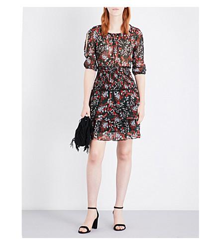 MAJE Romeane floral-print chiffon mini dress (Imprime