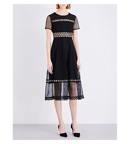 MAJE Rome lace dress (Black