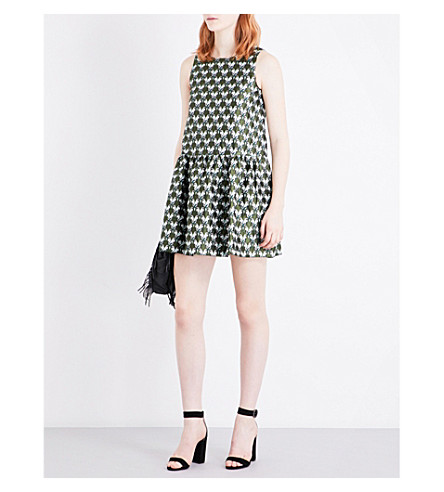 MAJE Rower parrot-jacquard dress (Jacquard