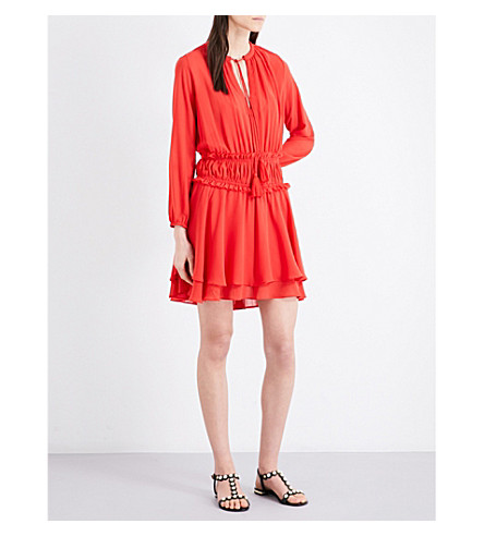 MAJE Rulla chiffon dress (Rouge