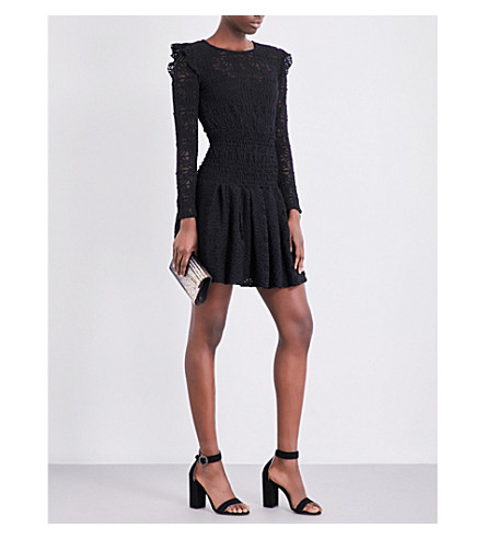 MAJE Rylie knitted-lace dress (Black