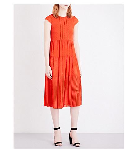 MAJE Ryline chiffon dress (Rouge