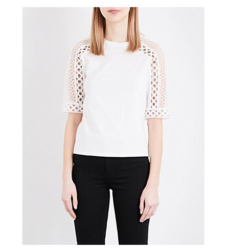 MAJE Teny cotton-jersey T-shirt (Blanc
