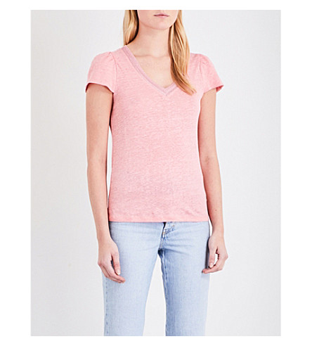 MAJE Trocadero linen top (Rose