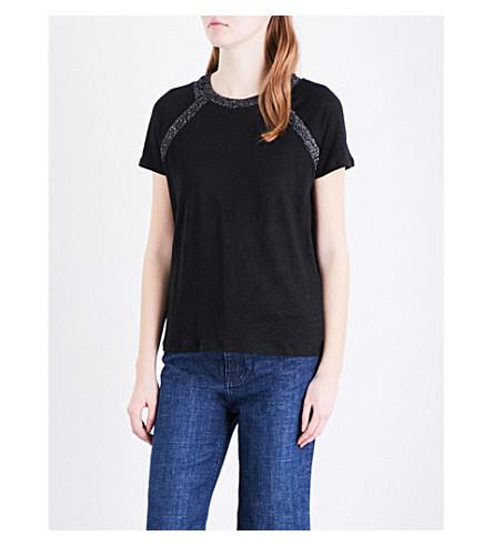 MAJE Troca linen top (Black