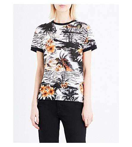 MAJE 星期二夏威夷-印花亚麻 t恤衫 (Imprime