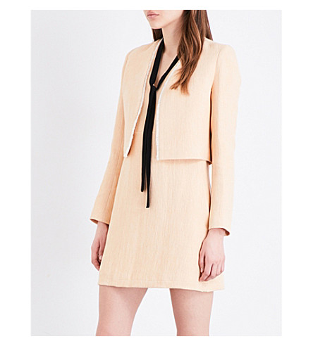 MAJE Vikou cotton-blend jacket (Nude