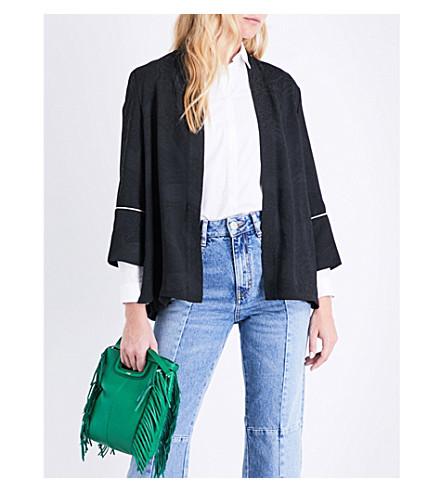 MAJE Vlissea jacquard jacket (Black