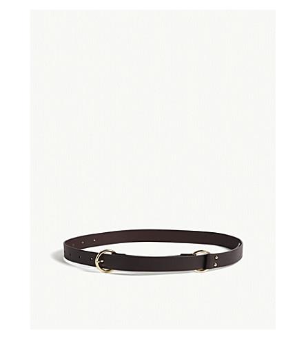 MAJE Leather belt (Red