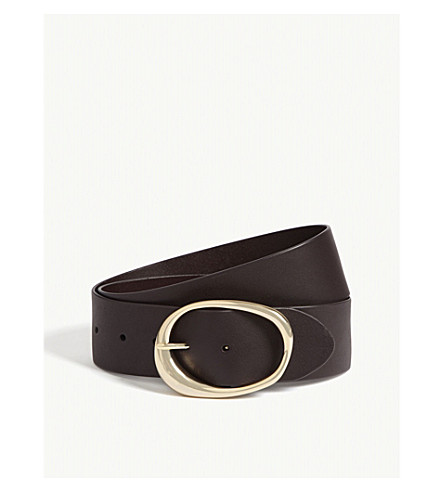 MAJE Wide leather belt (Red