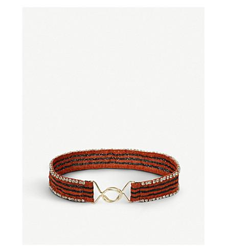 MAJE Atoni striped belt (Multi-coloured