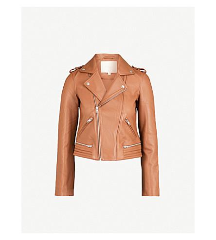 MAJE Basalt leather jacket (Cream