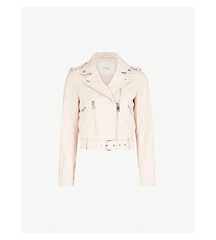 MAJE Besty leather jacket (Nude+(lingerie)