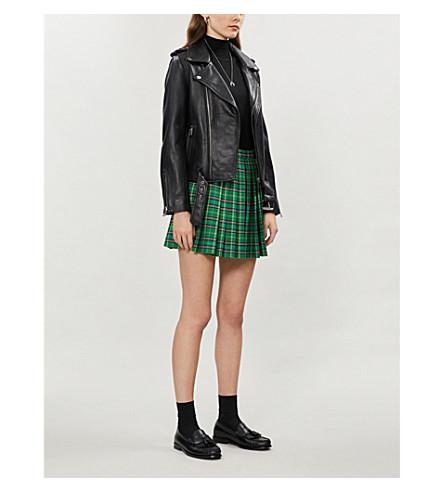 MAJE Bocelix leather jacket (Black