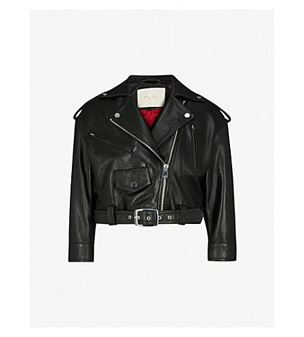MAJE Biker leather jacket (Black