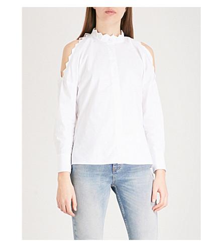 MAJE Calinka cotton shirt (White