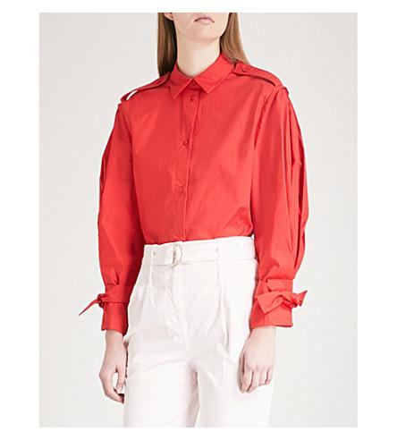 MAJE Calix cotton shirt (Red