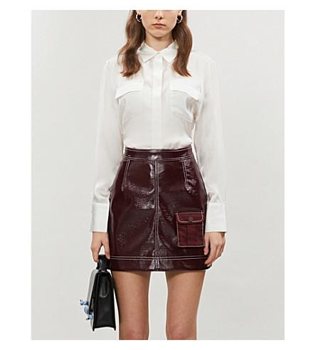 MAJE Ceci silk-satin shirt (White