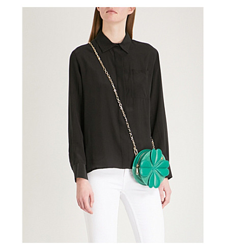 MAJE Cela silk shirt (Black