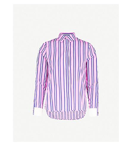 MAJE Cenali striped cotton shirt (Multi-coloured