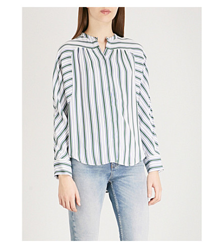 MAJE Coquille woven shirt (Multi-coloured