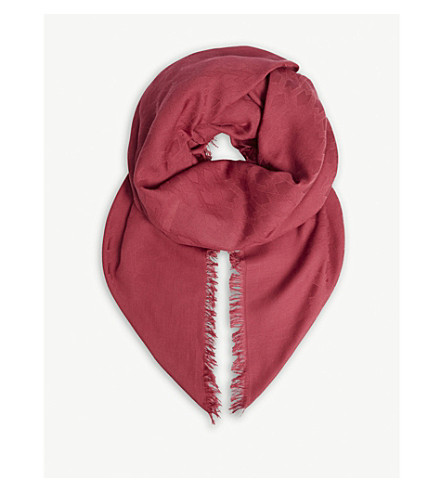 MAJE Ezza cotton scarf (Purple