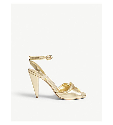 MAJE Fairy suede sandals (Gold