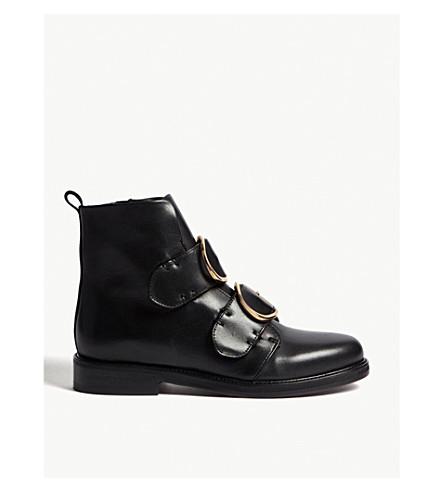 MAJE Felipe leather ankle boots (Black+210