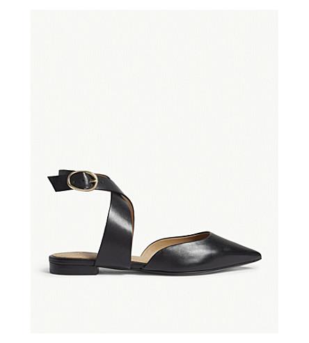 MAJE Fimea leather sandals (Black