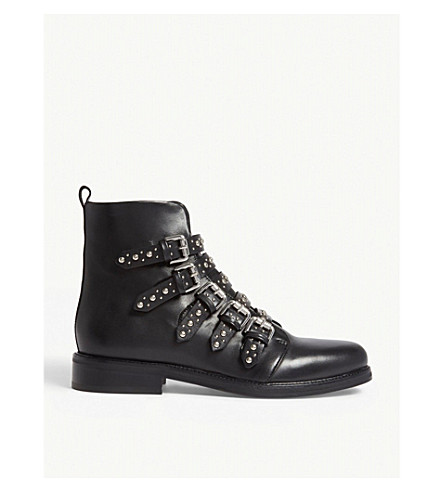 MAJE Fortune studded leather boots (Black+210