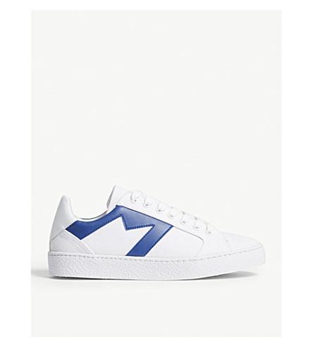 detalles de MAJE con piel en Zapatillas lona Azul deportivas azules qvwwXfU