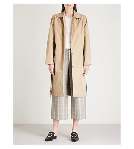 MAJE Gamby cotton-blend coat (Cream