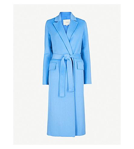 MAJE Geode wool-blend coat (Blue