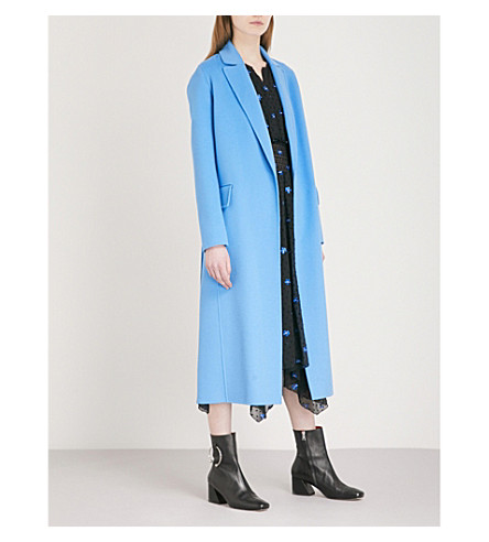 MAJE Geode wool-blend coat (Blue